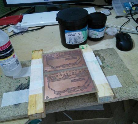 solder mask prepare